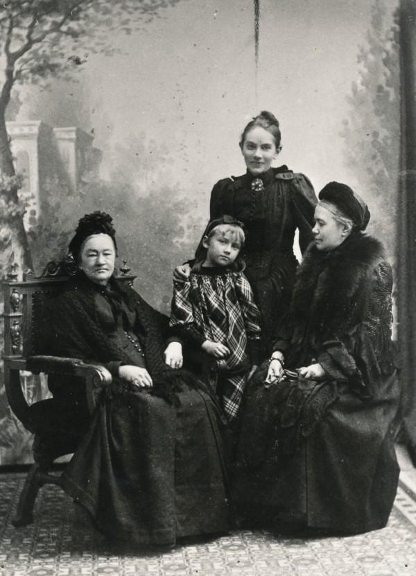 Släktingar fyragenerationer